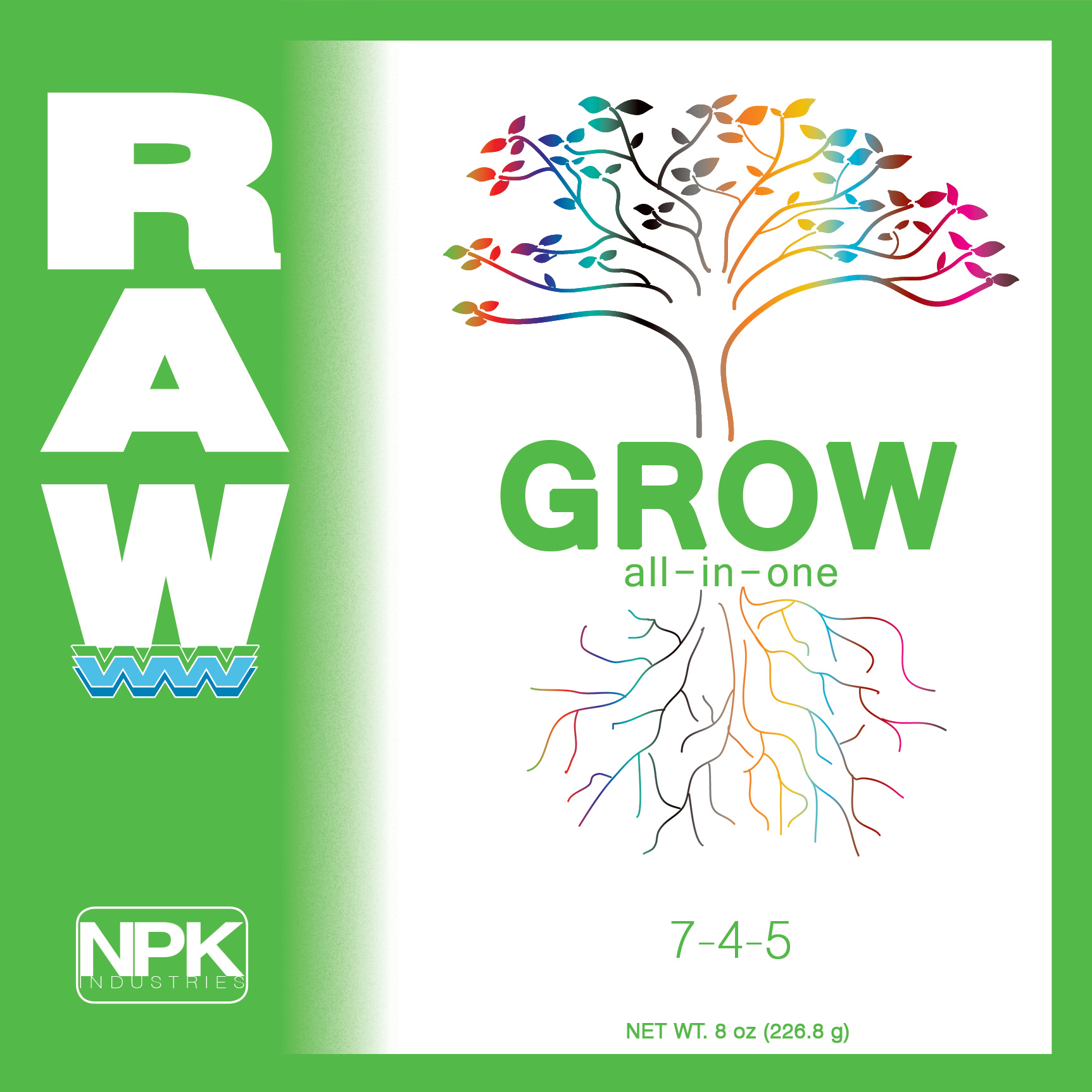 RAW GROW Complete 100 г Все в 1-м на стадию вегетации 100 г